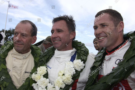 Stock Photo of Jackie Oliver, Paul Radisich and Tom Kristensen (L-R)