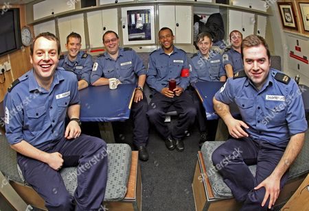 Stock Picture of Able Seaman Ryan Samuel Donovan (back row, 3rd fromt right) onboard the HMS Astute