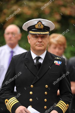 Speaking on behalf of the Royal Navy, Captain Phil Buckley outside Winchester Crown Court