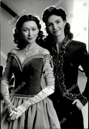 Stock Picture of Cherie Lunghi And Mary Steenburgen At The Old Vic In London