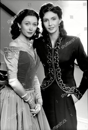 Stock Photo of Actresses Cherie Lunghi And Mary Steenburgen At The Old Vic In London