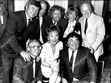 Lulu's Tribute Luncheon Left To Right Jimmy Tarbuck Brian Cant Richard Branson Esther Rantzen Desmond Wilcox (front) Syd Little Lulu And Eddie Large