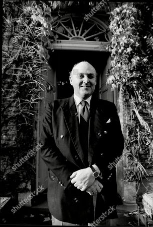 Ian Mccorquodale Outside His Mother's House Camfield House In Essendon Hertfordshire. His Mother Is Barbara Cartland