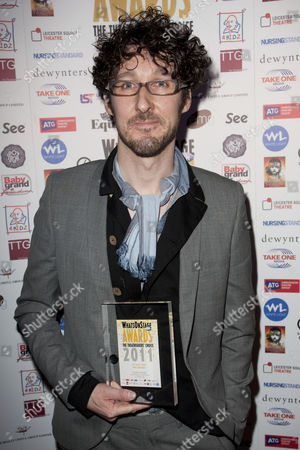 Timothy Sheader accepts the Whatsonstage.com Award for the Last Seconds Tickets Best Director for 'Into the Woods' and 'The Crucible'