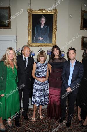 Emma Hill, Harold Tillman, Anna Wintour, Samantha Cameron and Christopher Bailey