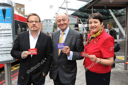 Eddie Izzard, Val Shawcross and Ken Livingstone