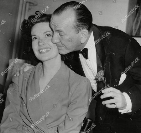 Noel Coward Kisses Judy Campbell At The Savoy In London During The First Night Celebrations For 'relative Values'. Judy Birkin Was The Muse Of Noel Coward And Is The Mother Of Actress Jane Birkin She Died In 2004 Noel Coward Died In 1973