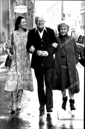 Actor John Mccallum With His Wife Googie Withers And Actress Daughter Joanna Mccallum In London