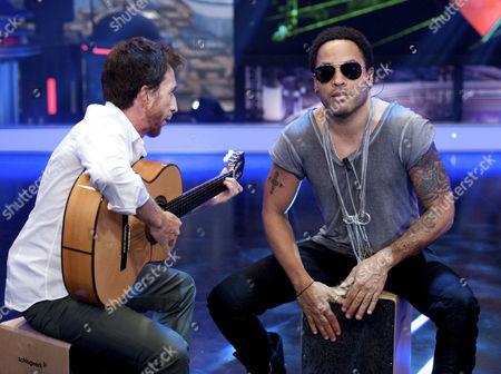 Pablo Motos and Lenny Kravitz