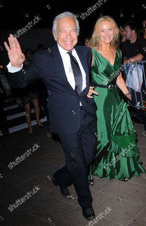 Stock Photo of Ralph Lauren and wife Ricky Anne Low-Beer