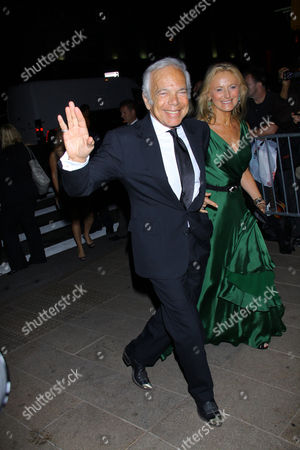 Stock Picture of Ralph Lauren and wife Ricky Anne Low-Beer