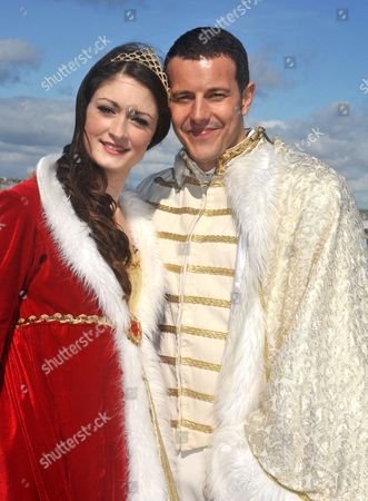 Stock Photo of Lee Latchford-Evans and Charlotte Anne Steen