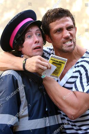 Alex Reid grabbing 'traffic warden' - comedian Ross Lee