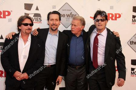 Stock Picture of Emilio Estevez, Ramon Estevez, Martin Sheen, Charlie Sheen