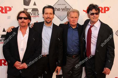 Stock Photo of Emilio Estevez, Ramon Estevez, Martin Sheen, Charlie Sheen