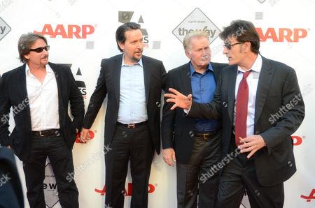 Emilio Estevez, Ramon Estevez, Martin Sheen and Charlie Sheen