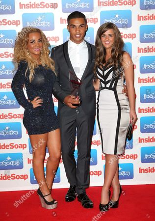 Stock Photo of Chelsee Healey, Lucien Laviscount and Rebecca Ryan