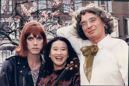 Actor Ken Campbell With Friends