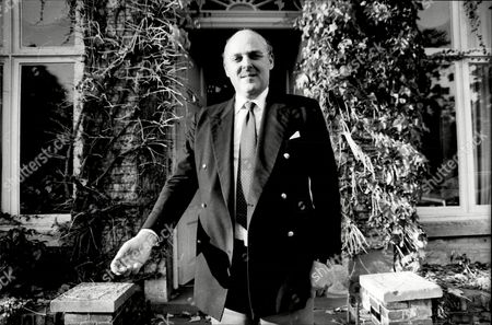 Ian Mccorquodale Chairman Of Debretts And Son Of Barbara Cartland Pictured Outside Her Essendon House 1981.