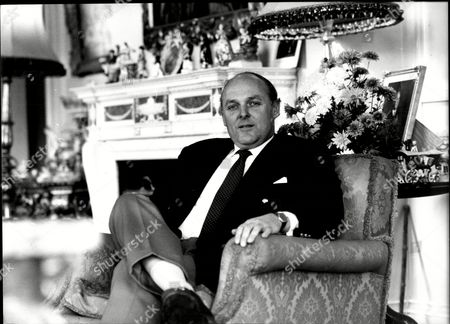 Ian Mccorquodale Chairman Of Debretts And Son Of Barbara Cartland Pictured Within Her Essendon House 1981.