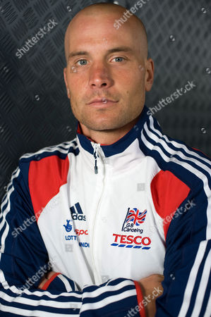 Editorial picture of GB canoeist and kayaker Rich Hounslow at Lee Valley White Water Centre in Waltham Cross, Hertfordshire, Britain - 23 Aug 2011