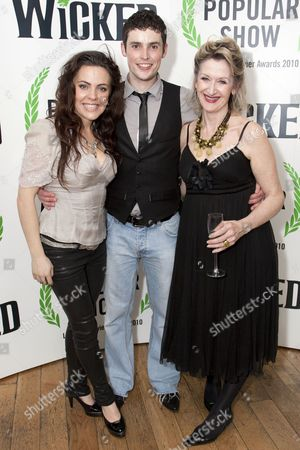 Rachel Tucker (Elphaba), Niall Sheehy (Swing) and Julie Legrand (Madame Morrible)