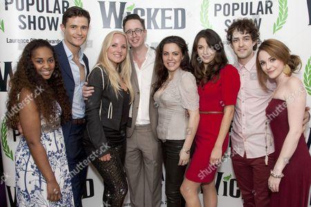 Alexia Khadime, Mark Evans (Fiyero), Kerry Ellis, Michael McCabe (Executive Producer), Rachel Tucker (Elphaba), Caroline Keiff, Lee Mead and Cassandra Compton