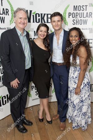Stock Picture of Nigel Planer, Ashleigh Gray, Mark Evans (Fiyero) and Alexia Khadime