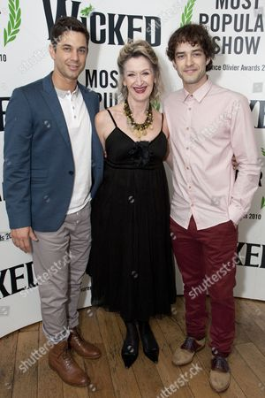 Adam Garcia, Julie Legrand (Madame Morrible) and Lee Mead