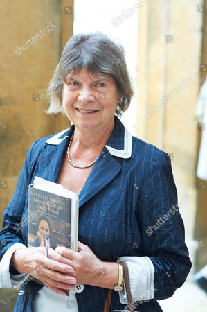 Dame Margaret Drabble with her book 'A Day in the Life of a Smiling Woman'