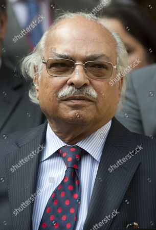 Pakistan's High Commissioner To Britain Wajid Shamsul Hasan Pictured Outside The Pakistan High Commission In London Where He Defended The Three Cricket Players Salman Butt Mohammad Asif And Mohammad Aamer.