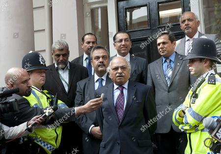 Wajid Shamsul Hasan Pakistan's High Commissioner To Britain Pictured Outside The Pakistan High Commission In London Where He Defended The Three Cricket Players Salman Butt Mohammad Asif And Mohammad Aamer. See Story.