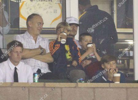 Ted Beckham with Romeo Beckham, David Beckham, Cruz Beckham and Brooklyn Beckham