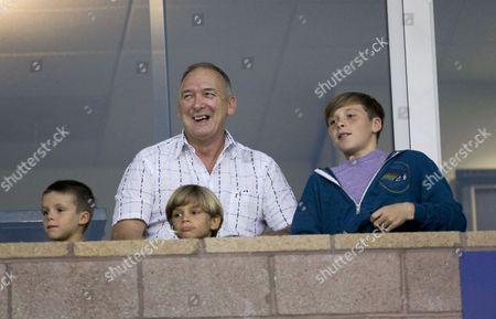 Ted Beckham with grandsons' Cruz Beckham, Romeo Beckham and Brooklyn Beckham
