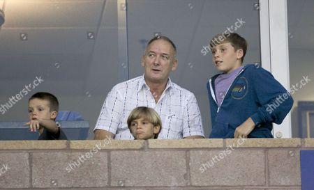 Ted Beckham with grandsons Cruz Beckham, Romeo Beckham and Brooklyn Beckham