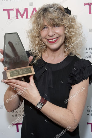 Louise Plowright accepts the award for Best Supporting Performance in a Musical