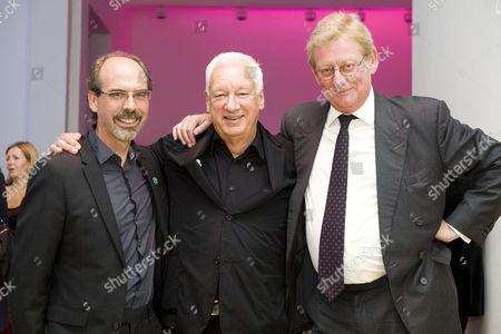 Stephen Deuchar, director of the Art Fund, Michael Craig-Martin and Art Fund chairman David Verey