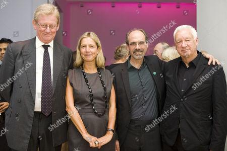 Art Fund chairman David Verey, director of Whitechapel Gallery Iwona Blazwick, Stephen Deuchar and Michael Craig-Martin