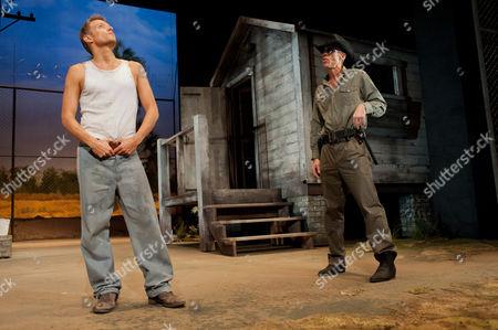Marc Warren as Luke and Richard Brake as Boss Godfrey