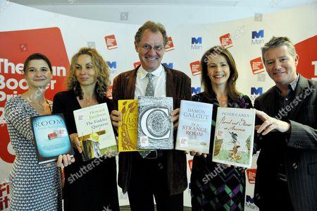 The 2010 Man Booker Prize For Fiction Shortlist Is Announced. The Judges L-r Rosie Blau Frances Wilson Andrew Motion Deborah Bull Tom Sutcliffe Photograph By Glenn Copus