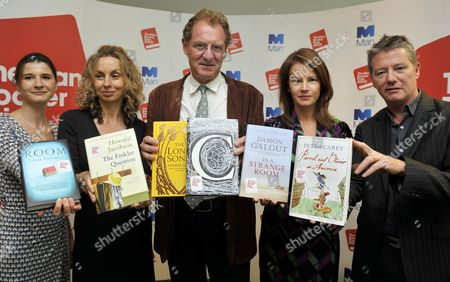 Stock Image of The Judges (l-r) As The 2010 Man Booker Prize For Fiction Shortlist Is Announced: Rosie Blau Frances Wilson Andrew Motion Deborah Bull Tom Sutcliffe Photograph By Glenn Copus