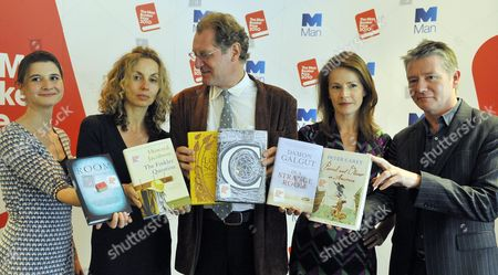 Stock Photo of The Judges (l-r) As The 2010 Man Booker Prize For Fiction Shortlist Is Announced: Rosie Blau Frances Wilson Andrew Motion Deborah Bull Tom Sutcliffe Photograph By Glenn Copus