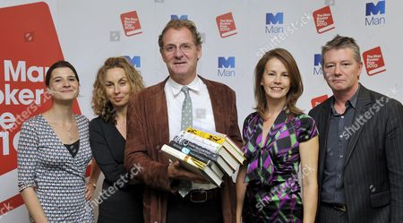 Editorial photo of The Judges (l-r) As The 2010 Man Booker Prize For Fiction Shortlist Is Announced: Rosie Blau Frances Wilson Andrew Motion Deborah Bull Tom Sutcliffe Photograph By Glenn Copus