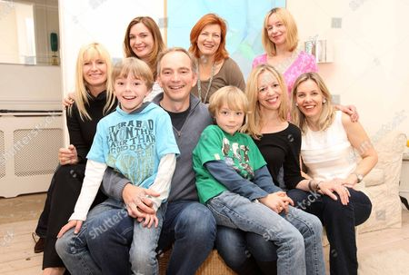 Editorial image of Author Rosamund Lupton Whose Book 'sister' Is One Of The Fastest Selling Books On Booksellers Shelves. Here With Family And Friends L-r Back Row Michelle Matthews Sarah Leonard Trixie Rowlinson And Tore Orde-powlett (rosamund's Sister). Front Row