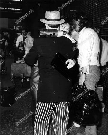 Stock Picture of Elton John and Renate Blauel