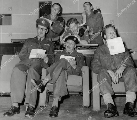 Cast Of Television Programme The Army Game. Harry Fowler Alfie Bass Ted Lune Bill Fraser And Harry Towb.