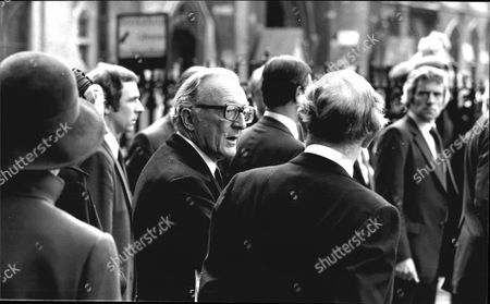 Lord Carrington/baron Carington Of Upton Attending A Memorial Service To The Late Lord (rab) Butler At Westminster Abbey In London