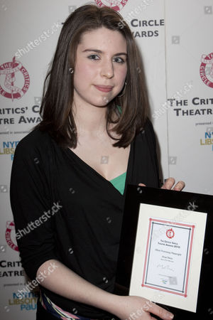 Anya Reiss with the award for Most Promising Playwright