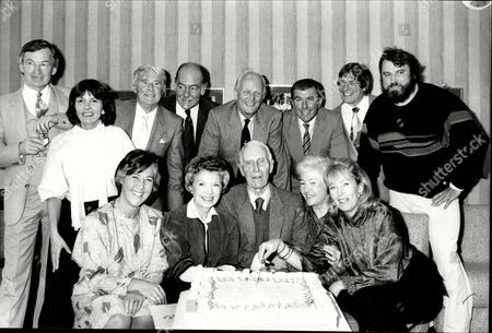 Bbc 50th Anniversary Party. Top Row (l-r) Michael Dean Joan Bakewell Ernie Wise Peter Haigh Mcdonald Hobley Tony Bilbow And Brian Blessed. Front Row (l-r) Meryl O'keefe Sylvia Peters Cecil Madden Mary Malcolm And Valerie Solti.