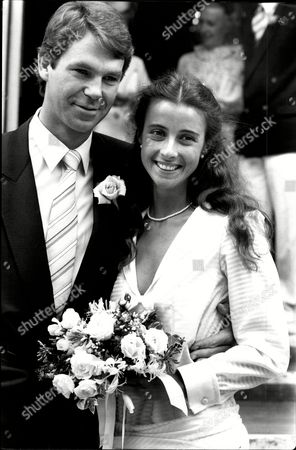 Emma Jacobs Daughter Of David Jacobs The Dj And Tv Presenter With Husband Stuart Mcloud After Their Wedding At Chelsea Registry Office.